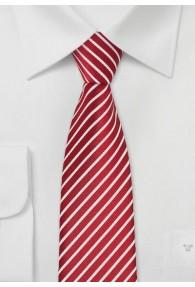 Krawatte schmal rote Streifen