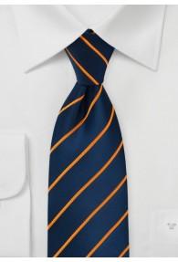 Businesskrawatte navyblau orange Gummizug