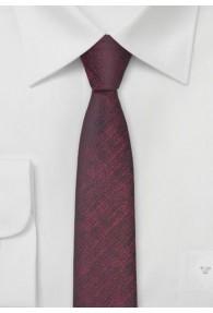 Trend-Krawatte schmal geformt weinrot