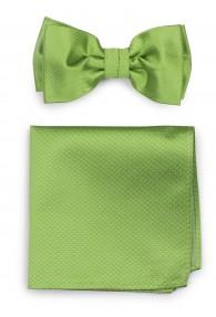 Set Schleife mit Stecktuch strukturiert blassgrün