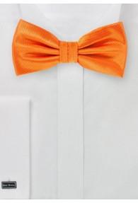 Herren-Schleife uni strukturiert orange