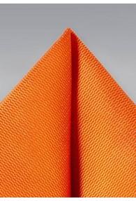Herren-Einstecktuch strukturiert orange
