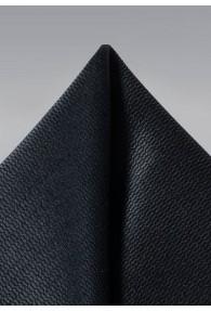 Herren-Einstecktuch strukturiert schwarz