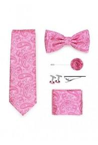 Geschenkbox Paisley-Muster pink  mit Krawatte,