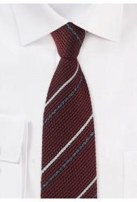 Krawatte weinrot Streifen-Optik