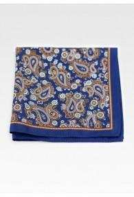 Einstecktuch lockeres Paisleymotiv marineblau