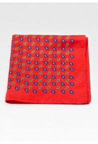 Ziertuch kleines Paisley-Motiv rot