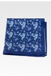 Ziertuch Blümchenmuster nachtblau taubenblau