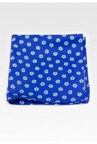 Ziertuch Blumenmotiv königsblau taubenblau