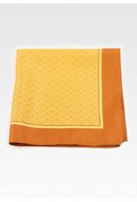 Ziertuch Treppenmuster orange