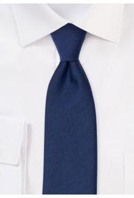 Krawatte einfarbig melierte Struktur navyblau