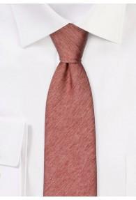 Krawatte einfarbig melierte Struktur braunrot