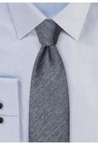 Krawatte einfarbig melierte Oberfläche anthrazit