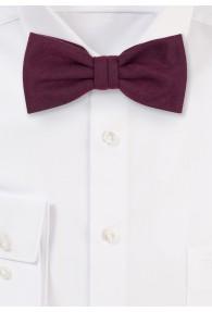 Krawatte einfarbig melierte Oberfläche weinrot