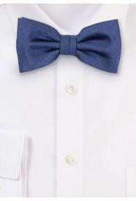Herrenfliege meliert einfarbig navyblau