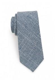 Krawatte Baumwolle gesprenkelt mattblau
