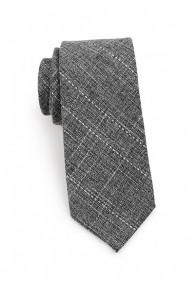 Krawatte Baumwolle gesprenkelt anthrazit