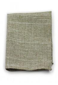 Kavaliertuch Baumwolle marmoriert braungrün