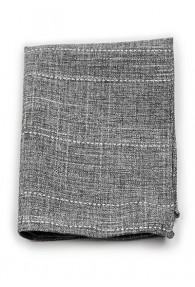 Kavaliertuch Baumwolle meliert dunkelgrau