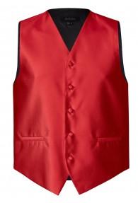 Elegante Herren-Weste in schimmernder Struktur rot