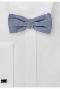 Herren-Schleife marmoriert Linienkaro stahlblau