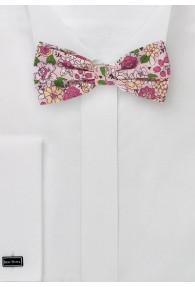Schleife Baumwolle Blumenmotiv blush