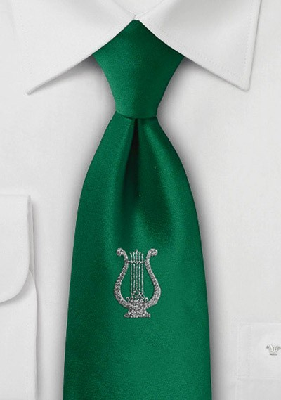 Krawatte Lyra flaschengrün