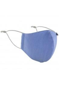 Mund-Nasen-Maske taubenblau einfarbig