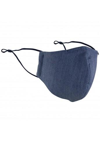 Mund-Nasen-Maske jeansblau monochrom