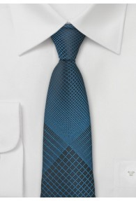 Krawatte Netz-Pattern blaugrün