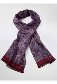 Krawattenschal Paisley-Muster dunkelrot