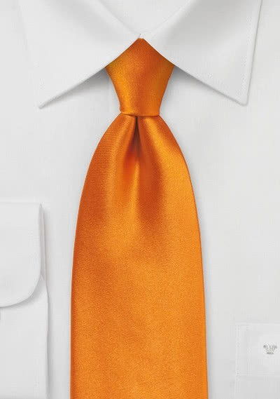 Einfarbige Kinder-Krawatte helles orange