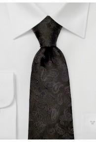 Krawatte Paisley-Muster tintenschwarz