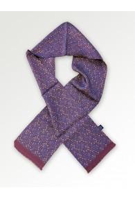 Krawattenschal kleines Paisley-Motiv braunrot