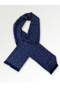 Tuchschal kleines Paisley-Motiv marineblau