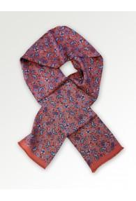 Krawattenschal rot Paisleymotiv