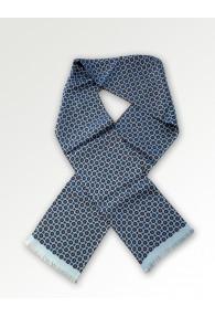 Krawattenschal Ornamente eisblau
