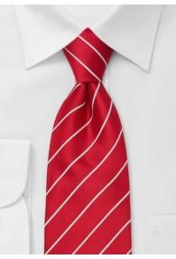 Lange Krawatte rot