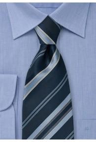 Elegante XXL-Streifenkrawatte in Blautönen