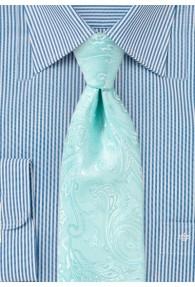 Krawatte elegantes Paisley-Motiv mintgrün