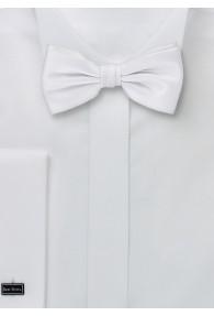 Herrenschleife raffinierte Seide weiß