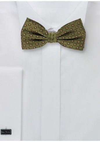 Fliege im Ornament-Stil in olivgrün