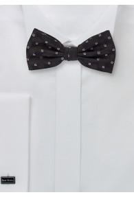 Herrenschleife im Ornament-Stil in schwarz