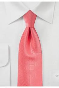 Krawatte strukturiert uni koralle
