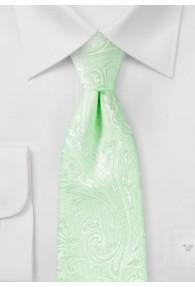 Krawatte gediegenes Paisley-Motiv blassgrün