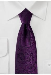 Krawatte elegantes Paisley-Motiv lila schwarz