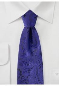 Krawatte gediegenes Paisley ultramarinblau schwarz