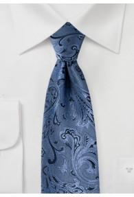 Krawatte gediegenes Paisleymuster hellblau schwarz