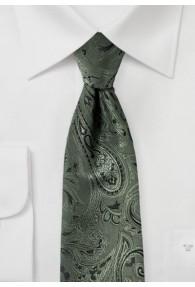 Krawatte gediegenes Paisley-Muster olivgrün...