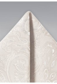 Kavaliertuch lebensfrohes Paisley-Muster altweiß